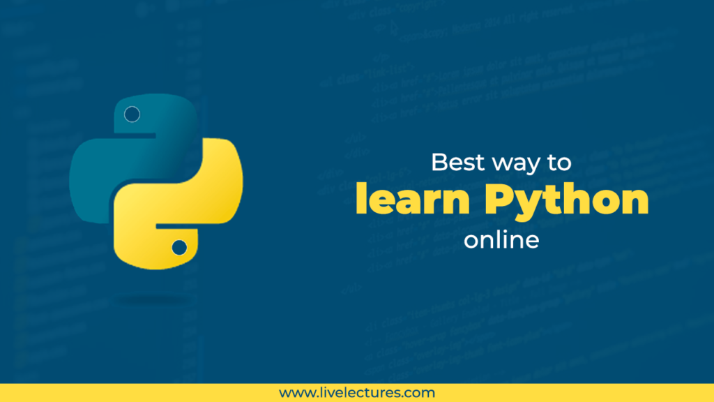 Best way to learn python online